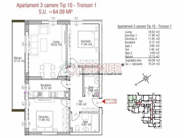 Apartament 3 camere, sector 4, Metalurgiei, Arghezi Park Residence - 3