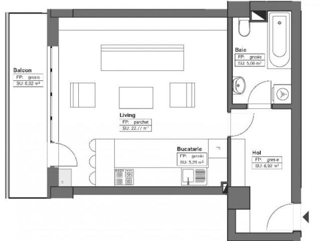Apartamente 2 camere open space, Himson - 4