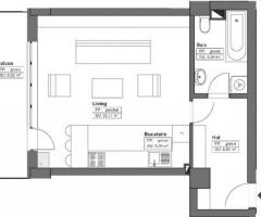 Apartamente 2 camere open space, Himson - Imagine 4